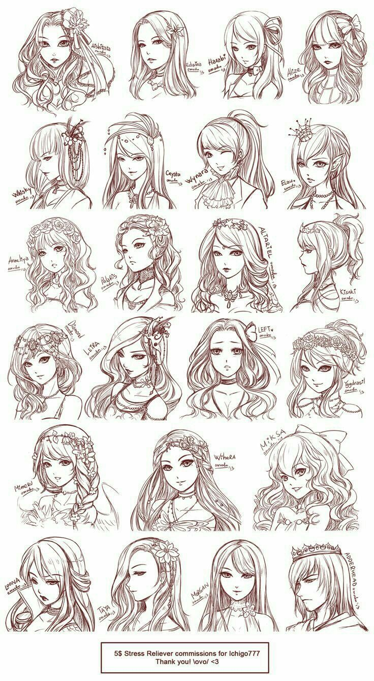 Royal Anime Hairstyles