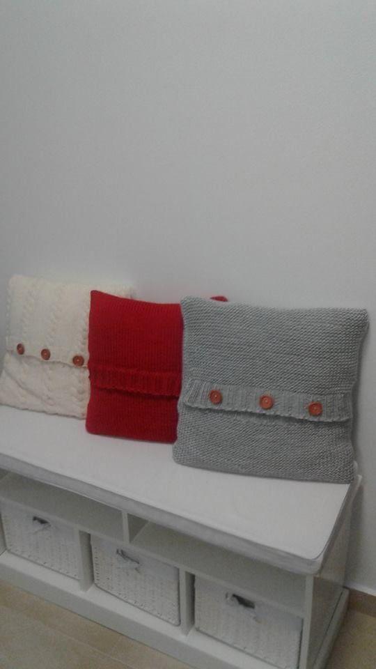 pletené vankúše