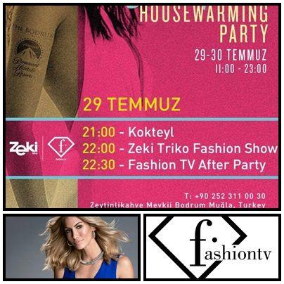 Bodrum'da Fashion Tv & Zeki Triko rüzgarı esecek…