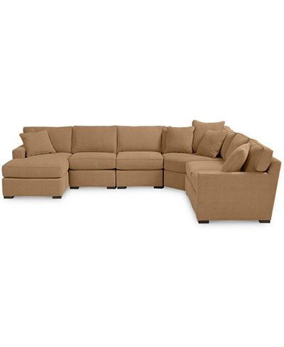Radley 6 Piece Fabric Chaise Sectional Sofa Custom Colors Created For Macy S