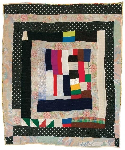 Jennie Pettway - Medallion variation - c. 1975 Cotton, rayon, polyester, corduroy 82 x 72 inches