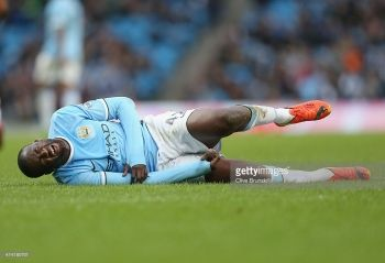 Manchester City midfielder Yaya Toure will miss Tuesday's Champions League semi-final first leg against Real Madrid because of a thigh injury.