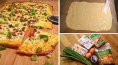 Low Carb Rezept füreinen leckereren klassischen Low-Carb Flammkuchen. Wenig Kohlenhydrate und einfach zum Nachkochen. Super für Diät/zum Abnehmen.