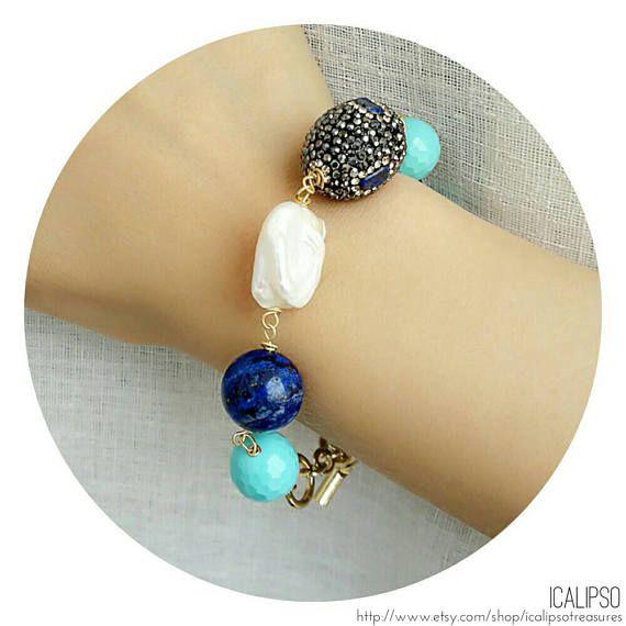 Guarda questo articolo nel mio negozio Etsy https://www.etsy.com/it/listing/540096593/turchese-bracciale-braccialetto-di