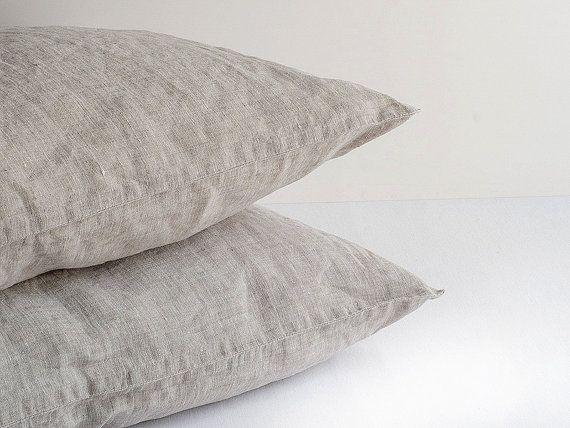NEW 100% Flax Washed Sham Standard Queen King European by BeaLinen