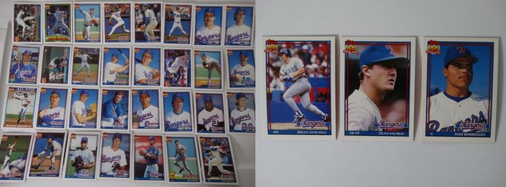 1991 Topps Texas Rangers Team Set of 34 Baseball Cards With Traded #topps #TexasRangers