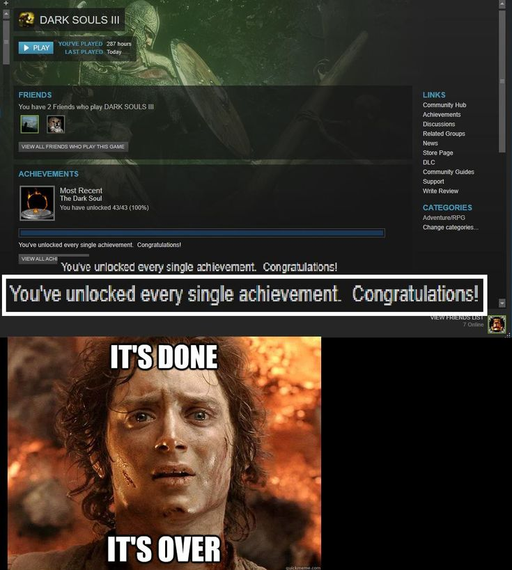 How it feels getting 100% on a Dark Souls game. http://ift.tt/2hvZxq3