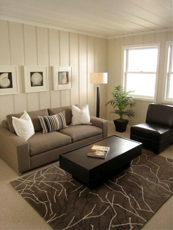 Panelled Room: Living Room With Painted Paneling