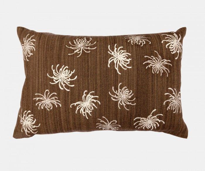 Conchita - Chocolate Cushion   William Yeoward