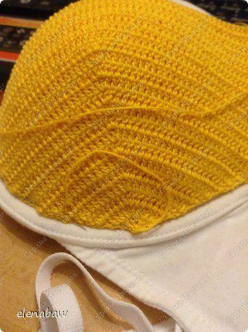 Гардероб Мастер-класс Вязание крючком Обвязка бюстгальтера крючком или верх для летнего платья Пряжа фото 2