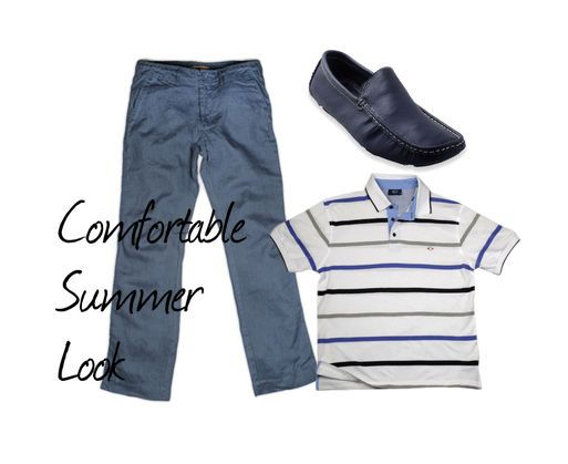 Summer Look : Λινό παντελόνι & Polo T-shirt αγαοημένος συνδυασμός! #Millenniumshop