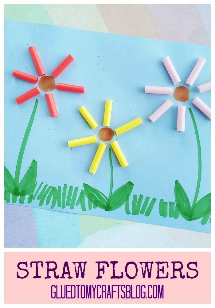 Use Plastic Straws And Tacky Glue To Make Flowers With Ease Find More Simple Kid