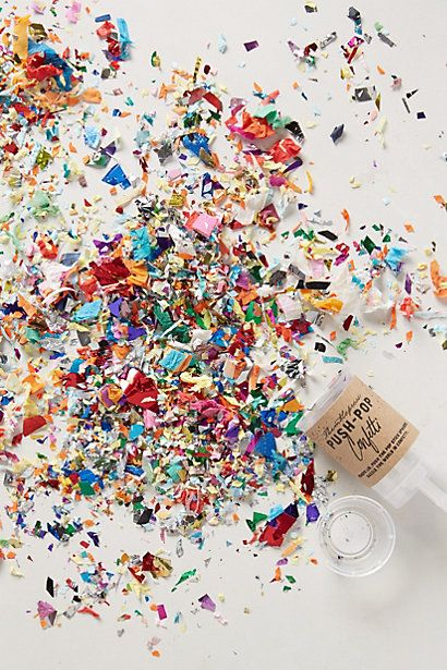 OMG wish we woulda found this before the wedding!! Too fun. Confetti Push-Pop - anthropologie.com