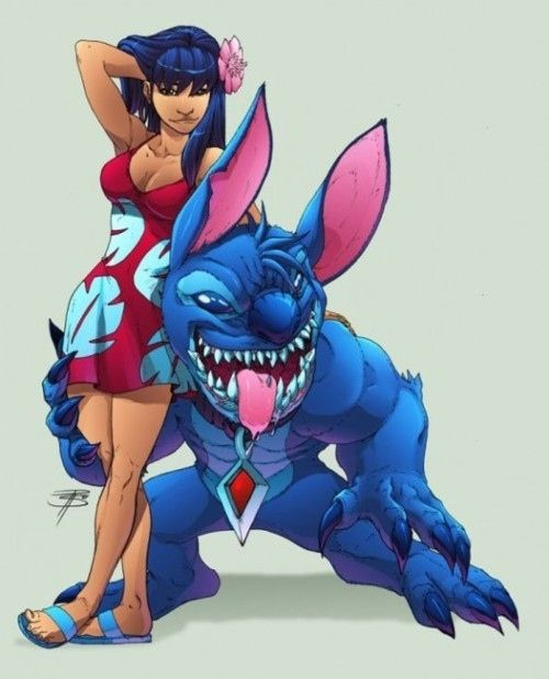 Lilo and Stitch... all grown up.