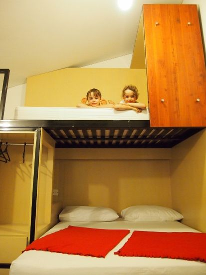 Staying in a hostel with kids for budget family travel. Hostels aren't just for backpackers. Hostel facilities for travelling with kids.Family travel blog