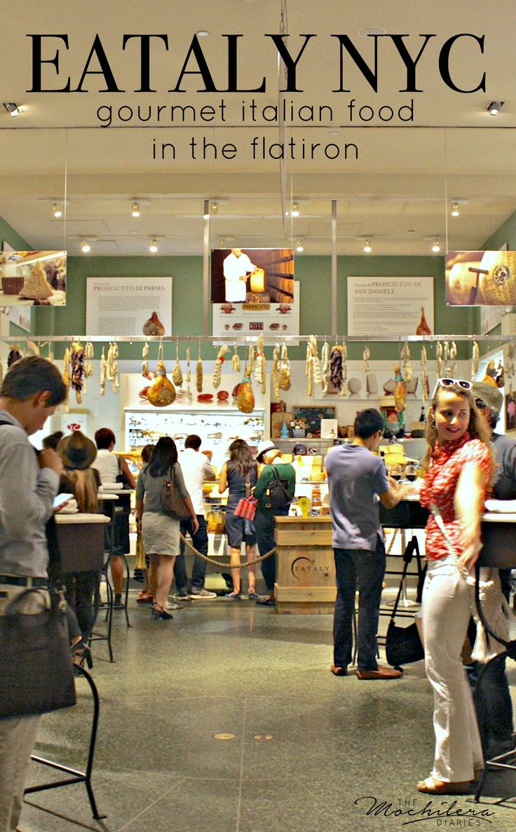 Eataly NYC in the Flatiron district, an amazing place for fresh bread, meats, cheeses and gelato, or a drink at the rooftop birreria.   The Mochilera Diaries