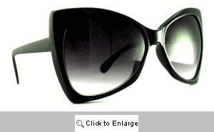 Chloe Upswept Retro Sunglasses - 470 Black