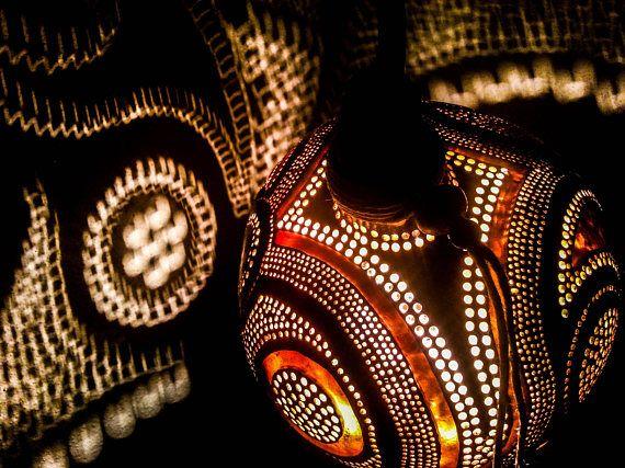 100% HANDMADE Gourd lamps Ottoman Turkish lamp gothic folk art