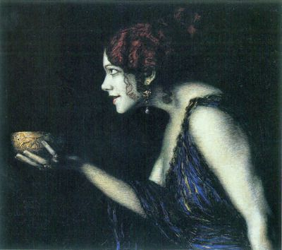 Tilla Durieux as Circe by Franz von Stuck. Order from DEKORAMI as a poster, canvas print, mural. Zamów jako obraz na płótnie, plakat lub fototapetę na DEKORAMI.pl
