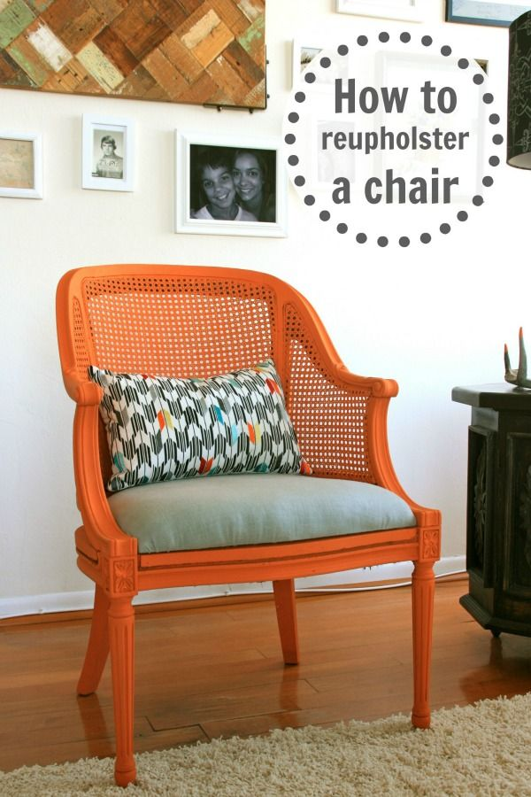 How to re-upholster a chair the easy way!!
