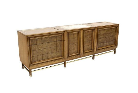 Extra Long Mid Century Modern Credenza Dresser Cabinet By