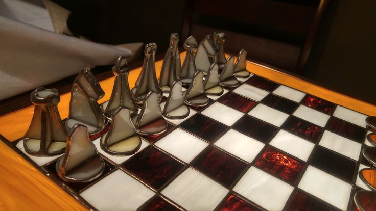 My father a stain glass artist created this chess set for my birthday.