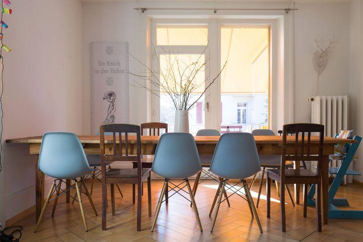 Grosser Tisch aus Altholz Fichte, 300×90