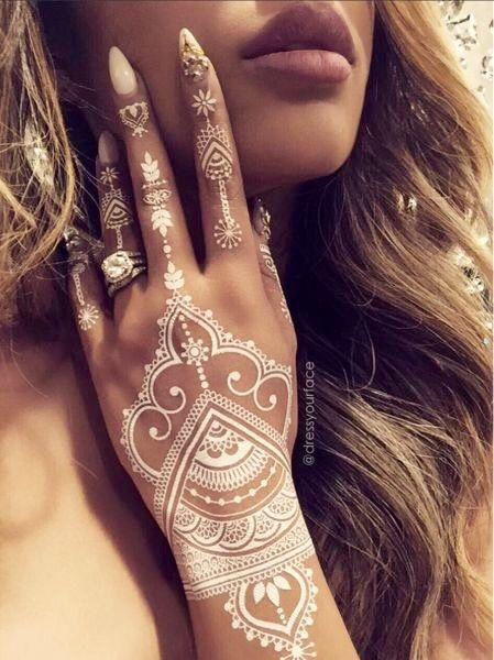White Henna.                                                                                                                                                     More