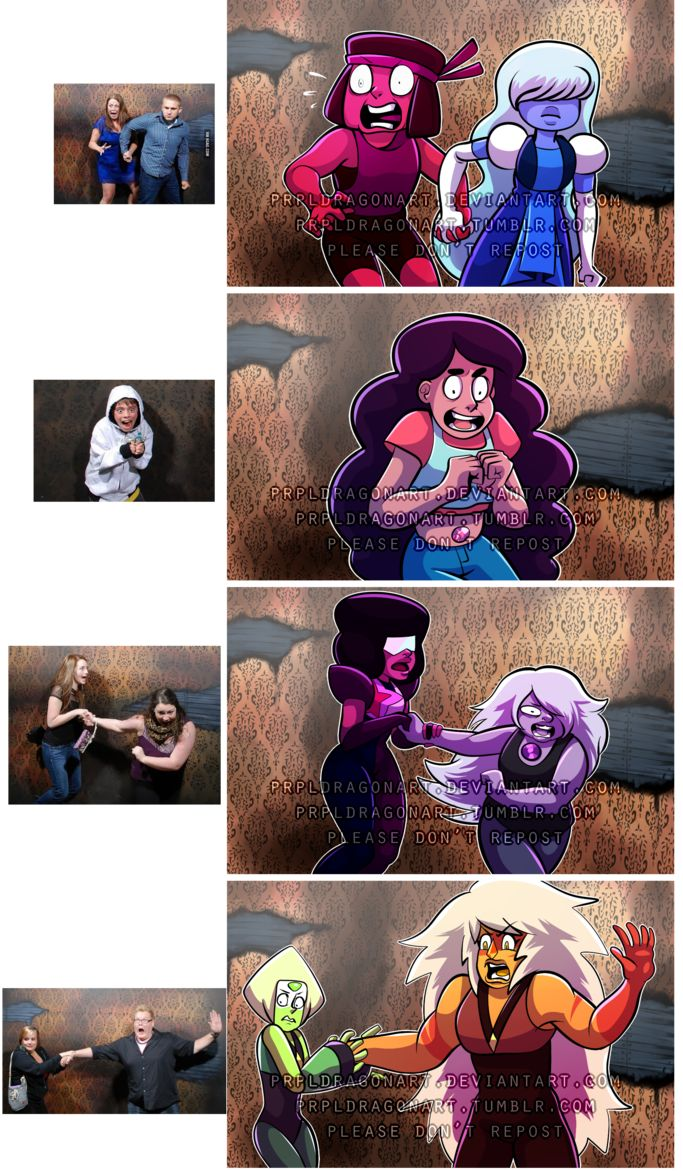Steven Universe: Haunted House Reaction meme by prpldragonart on DeviantArt