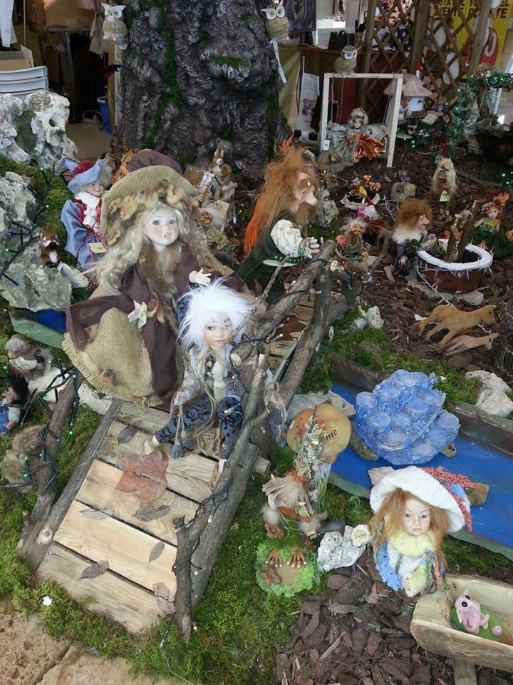 elfi e fate in porcellana italiana