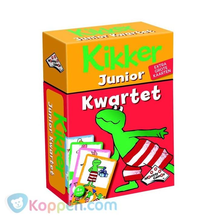 Identity Games, Kikker Junior kwartet. Kwartetten, het leukste kaartspel voor kinderen waarbij steeds vier kaarten bij elkaar gezocht worden. 'Kwartet! Met leuke illustraties van Kikker en zijn vriendjes! http://www.koppen.com/producten/categorie/merken/sub-categorie/identity-games/geslacht/jongen/leeftijd/vanaf-4-jaar/materiaal/karton/merk/identity-games/aanbieding/all/prijs/-4,00-5,00/product/7703040 Prijs: € 4,35
