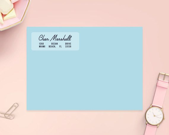 Clear Address Labels 2 5/8 x 1 Matte Clear Custom by HeartsRoots