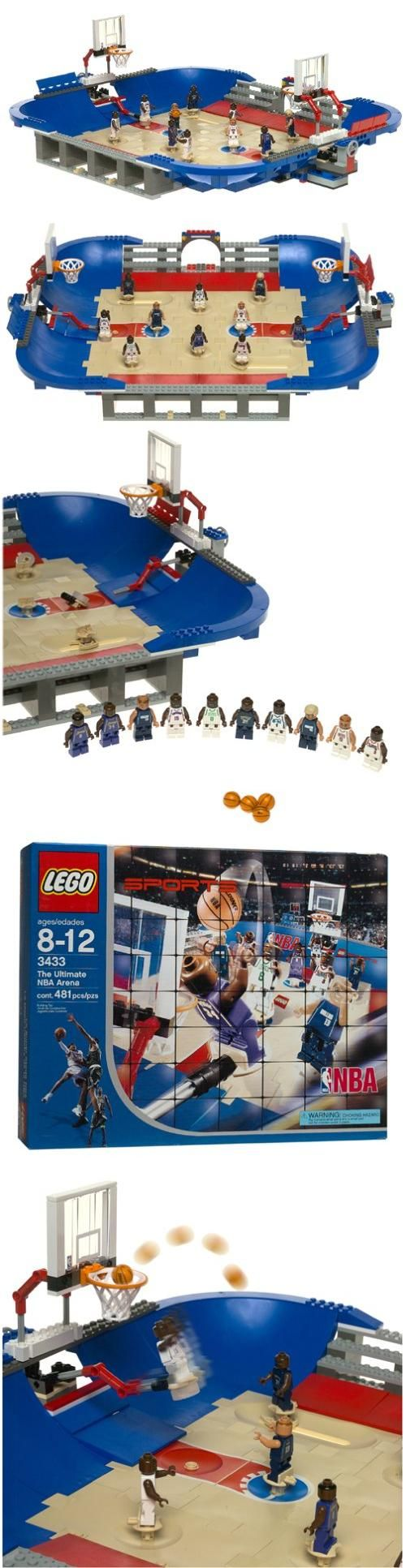LEGO Sports: NBA Ultimate Arena, Great for young basketball fans who love to build and play, the LEGO Ultimate NBA Arena features 10 collectible mini LEGO figures, including Jason Kidd, Allen Iverson and Antoine Walker. Move players ..., #Toys, #Building Sets