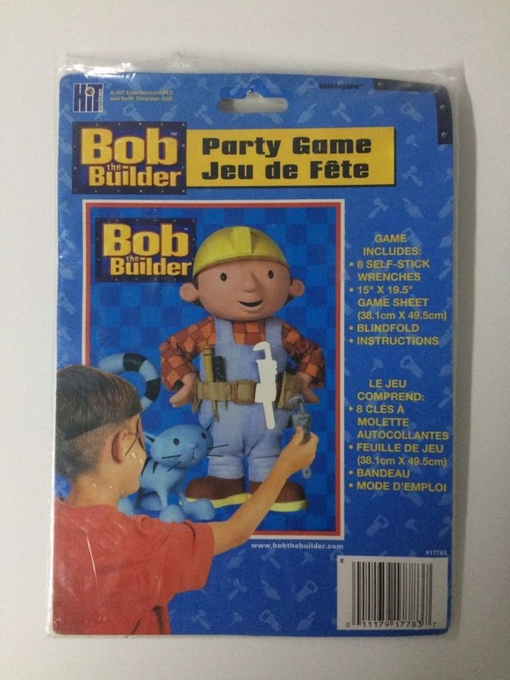 Boys Birthday Bob The Builder Party Game Stick Wrench On Toolbelt