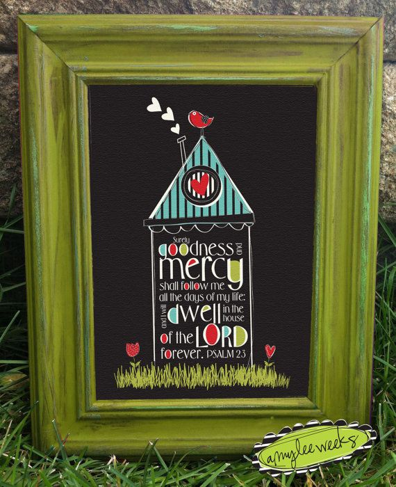 scripture art christian art psalm 23 bird house canvas mounted framed art