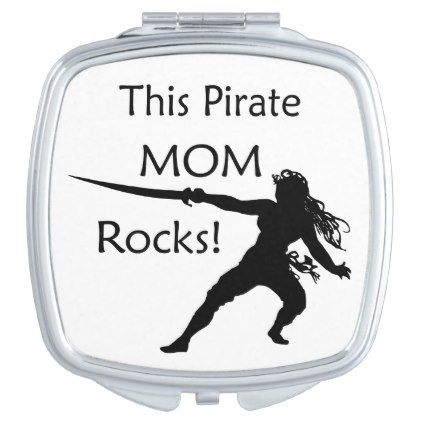 #This Pirate Mom Rocks with Sword Mirror For Makeup - #mom #mum #mother #wife #mothersday #gift #bestmom