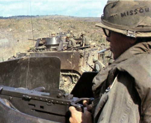 1967 US soldier of the 173d Airborne Brigade during Operation Junction City, War Zone C, Vietnam