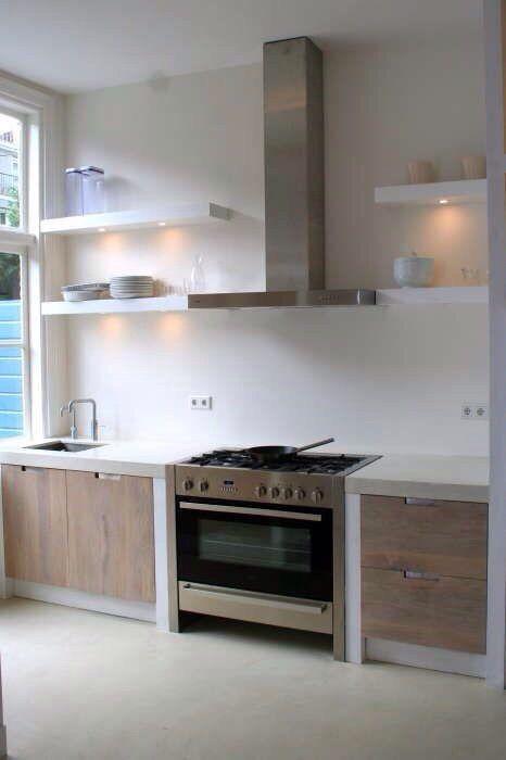 Keuken hout. Kitchen Wood.
