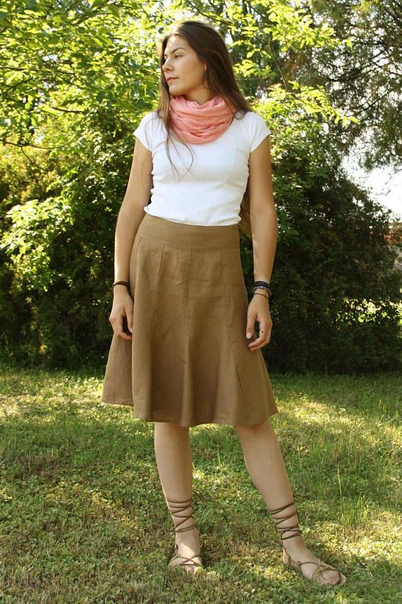 ANASTÁZIA   a cute linen skirt of interesting cut 100% flax