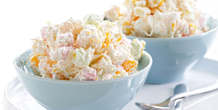 d just the right amount of tang for a truly delicious dessert – or side. Hawaiian Marshmallow Salad Recipe Hawaiian Marshmallow Salad Recipe  This is a debate that still rages on in our offices – do we count this yummy treat as a side dish or a dessert? It splits about 50/50 around here, and we'd love to know what you think too. But no matter which side you come down on, just make sure Hawaiian Salad is on every picnic, potluck and holiday menu this year.  Since it's so easy to make, a...