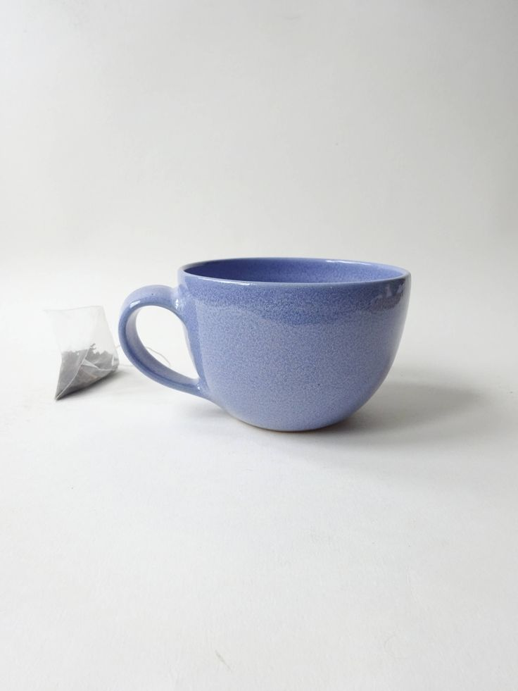Tea/coffee Cup - Handmade Ceramic- Cornflower Blue Tea Mug - Handmade Ceramic coffee cup - mug - pottery by viCeramics on Etsy