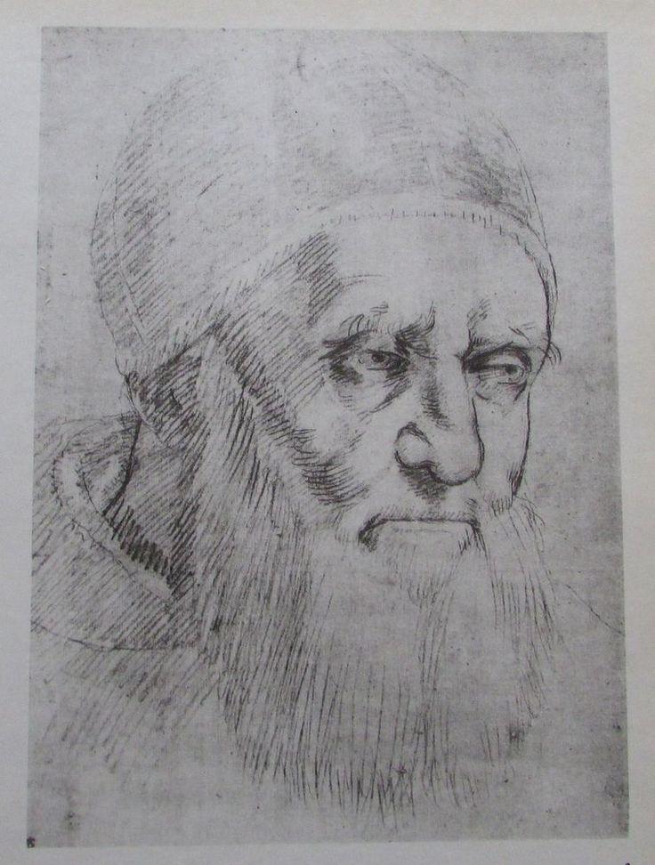 Raffael BILDNIS PAPST JULIUS II Reproduktion Druck print italienischer Maler