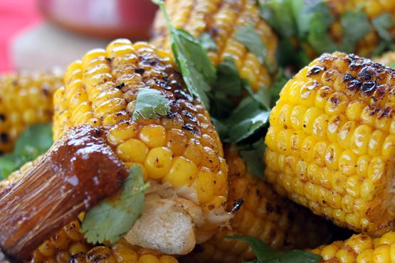 BBQ corn with Mexican spicy butter and lime