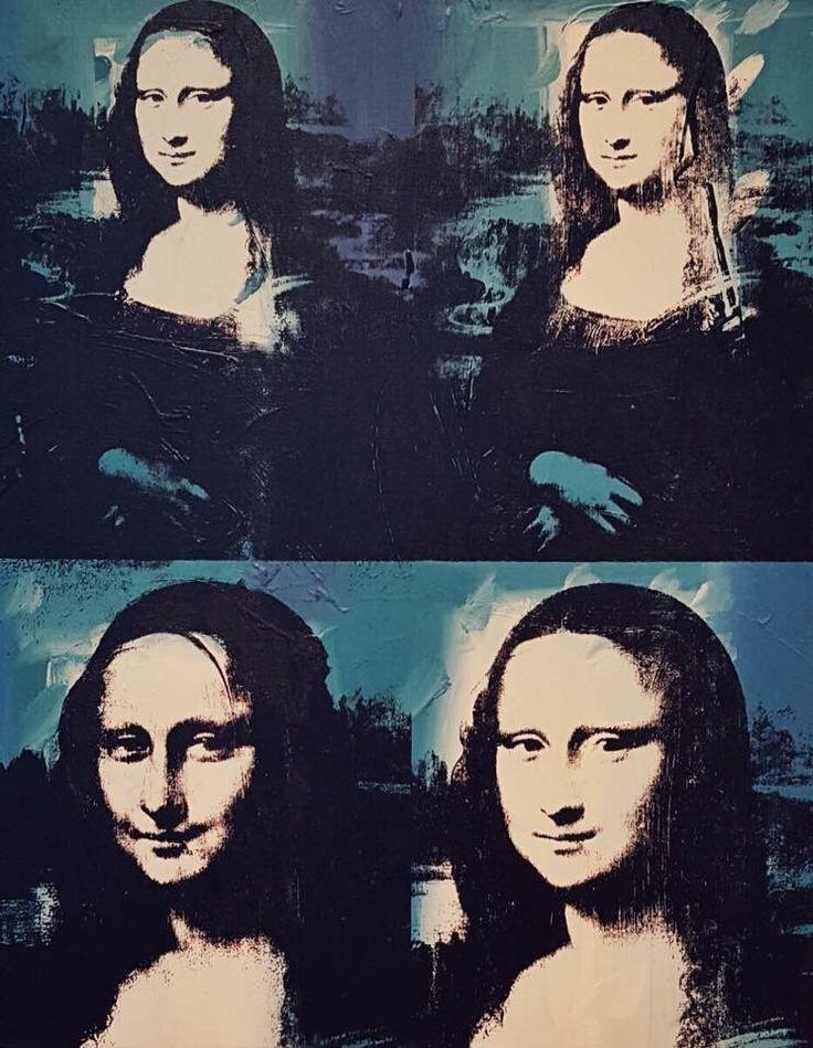 Four Mona Lisas. Andy Warhol, 1978.