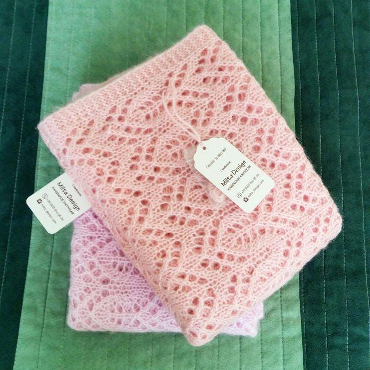 Шарф накидка спицами ажурный узор knitting_inspiration
