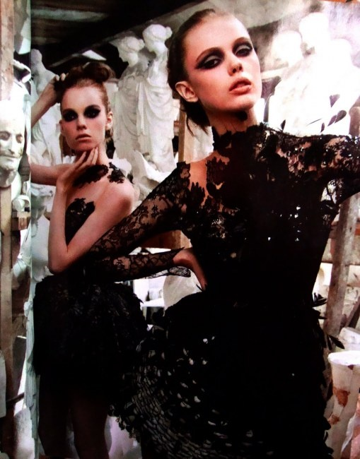 More beautiful GOTH GLAM looks from Valentino.