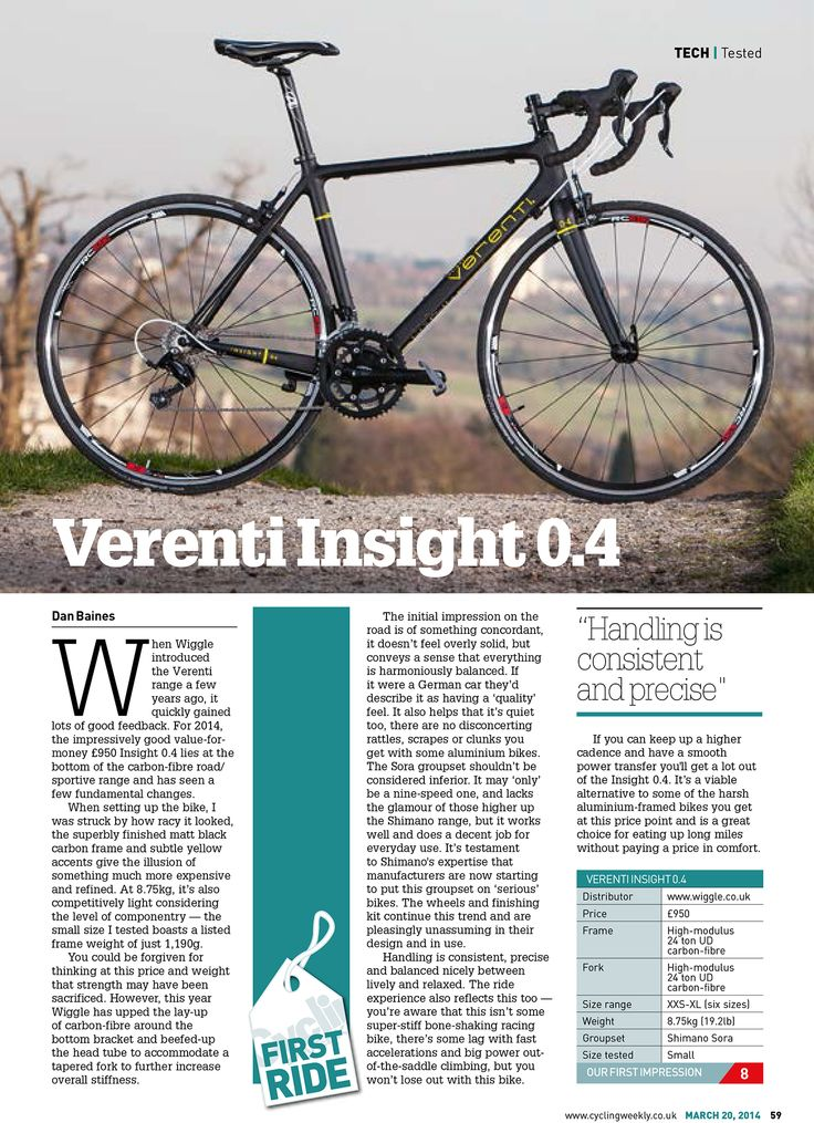 Wiggle | Verenti Insight 0.4 Sora 2015 | Road Bikes