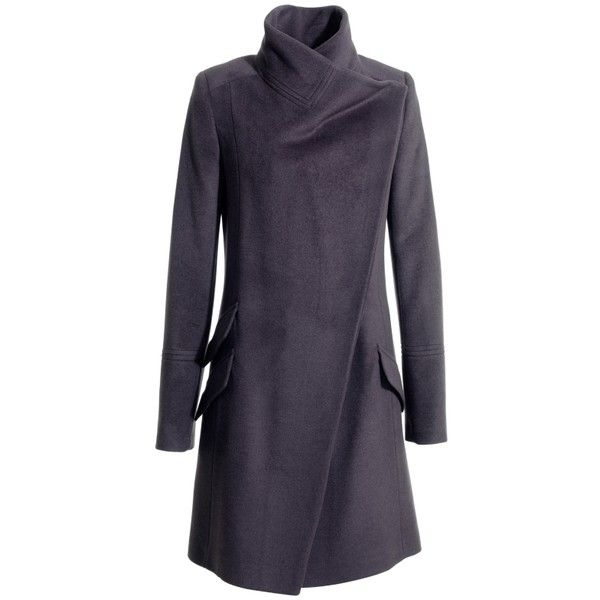 See this and similar Reiss coats - This luxurious coat by Reiss is a simple, elegant funnel neck coat with long sleeves and a smart asymetric wrap front. Sharp,...