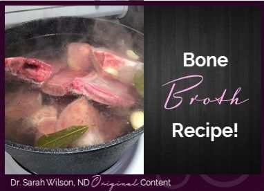 In many circles, bone broth is discussed as if it is the elixir of the gods, and although I won't go that far, bone broth definitely had a place in my healing journey. Bone broth is one of my power healing foods because it is chocked full of nutrients such as glycine, calcium, magnesium, phosphorus, potassium, gelatin, collagen etc. It is very nutrient dense (which I am totally into!) and generally well tolerated by even the most sensitive of tummies.