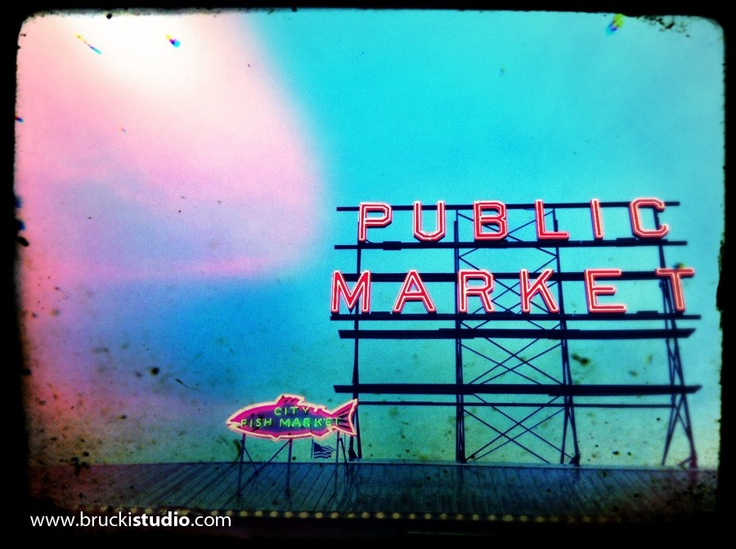 Seattle, Pike Place Market. iPhoneography with iPhone 5. trevor brucki